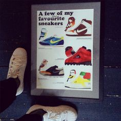 adidas Superstar trainers and print by Matt Sewell