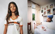 James Mollison, Where Children Sleep, Thais, 11, lives with her parents and sister on the third floor of a block of flats in Rio de Janeiro, Brazil. She shares a bedroom with her sister. They live in the Cidade de Deus ('City of God') neighbourhood, which used to be notorious for its gang rivalry and drug use. Since the 2002 film City of God, it has undergone major improvements. Thais is a fan of Felipe Dylon, a pop singer, and has posters of him on her wall. She would like to be a model.