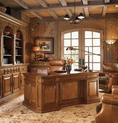 This Will Be My Home Office With Many Leather Bound Books And