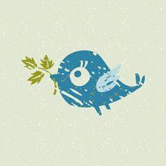 Blue Bird Art Print | Rusanovska