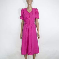 White Long Sleeve Dress, Short Sleeve Dresses, Spring Dresses, Day Dresses, Bright Pink Dresses, Pink Instagram, Beautiful Suit, Vintage Boutique, S Models