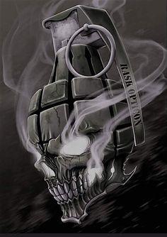 Skull Art by RaskOpticon @ deviantart ☠️ Skull Tattoo Design, Skull Tattoos, Body Art Tattoos, Sleeve Tattoos, Tattoo Designs, Dark Fantasy Art, Dark Art, Tattoo Sketches, Tattoo Drawings
