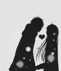 #Monochrome Anime Couples, Silhouette, Art, Kunst, Gcse Art, Sanat