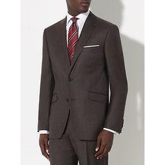 Plain brown suit