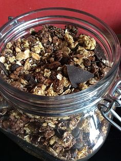 Schoko-Granola-Müsli, ein gutes Rezept aus der Kategorie Frühstück. Bewertungen: 2. Durchschnitt: Ø 3,8.