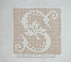 SKU 10372 Crochet monogram alphabet embroidery set - This machine embroidery designs set includes 26 crochet squares with monogram letters. Crochet Patterns Filet, Crochet Quilt, Crochet Chart, Crochet Squares, Crochet Home, Thread Crochet, Crochet Motif, Stitch Patterns, Crochet Alphabet