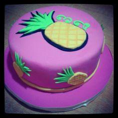 Pineapple themed cake