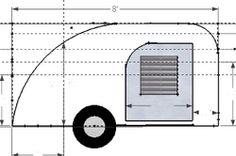 Resultado de imagen para plans for teardrop trailer Teardrop Trailer Plans, Building A Teardrop Trailer, Teardrop Caravan, Teardrop Campers, Tiny Camper, Small Campers, Small Trailer, Trailer Build, Best Trailers