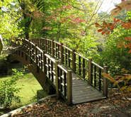 Old Westbury Garden, NY --LOVE this bridge! Looks very Japanese-inspired!