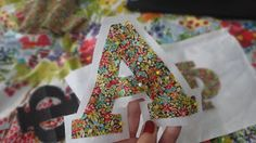 how to: Sew-On Letters