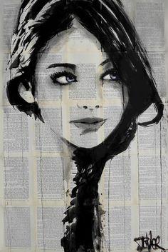 Drawing Portraits - Discover The Secrets Of Drawing Realistic Pencil Portraits.Let Me Show You How You Too Can Draw Realistic Pencil Portraits With My Truly Step-by-Step Guide. Portrait Au Crayon, Pencil Portrait, Pencil Drawings, Art Drawings, Drawing Portraits, Newspaper Art, Arte Pop, Oeuvre D'art, Love Art