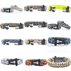 Portable #survival #paracord bracelet with flint fire starter #scraper whistle ge,  View more on the LINK: http://www.zeppy.io/product/gb/2/151613876192/