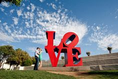 """Scottsdale Old Town """"Love"""" by Robert Indiana. Location: Scottsdale Civic Center Mall."""