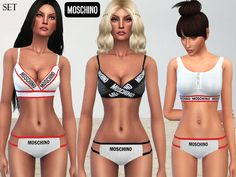 A lovely moschino lingerie for your simmies.  Found in TSR Category 'Sims 4 Sets'