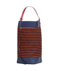LOEWE Midnight Large Stripes Bag Red/Navy