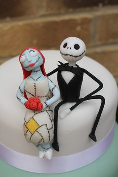 Jack and Sally Nightmare before Christmas cake.