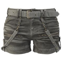 Studded Hot Pants - these would be better in black, as are most things.