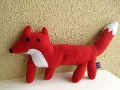 Radley the Red Fox Plush Handmade Softie by naomicayne on Etsy