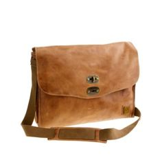 Belstaff Leather Messenger Bag - click pic for Swirl