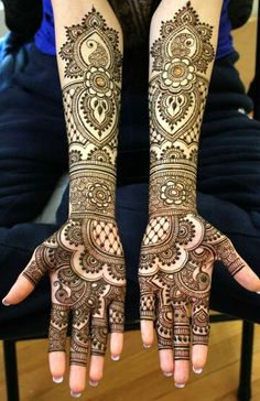 Neat and clean lines  marys mehndi leave tips of fingers so the girls can put on on in the night