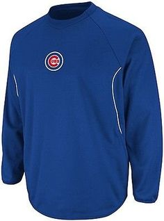538df1a6a072 Chicago Cubs Majestic Authentic Therma Base Tech Fleece Blue Big   Tall  Sizes (5XL)