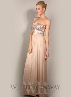 Azaria Silk and Sequin Dress
