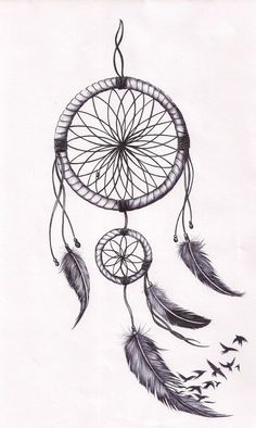 dream catcher pen and ink -