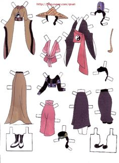 Dresses for Disney's Mulan paper dolls, Portuguese (7 of 9) | Naver Blog | 여장을한 무슈라니.. 생각만으로도 넘귀엽겠죠? ㅎㅎ