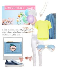 """Parque de Diversiones"" by karen-ponce-1 on Polyvore featuring Polaroid, Skinnydip, Dorothy Perkins, Jil Sander and Ray-Ban"