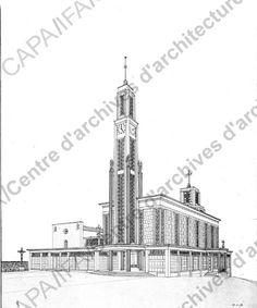 Auguste Perret: Projet Saint-Benoît-de-Carmaux (Tarn), 1938-1943 (Objet PERAU-218)