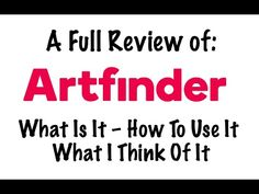 This is the second video in a series looking in-depth at websites where you can sell your art online. In this video, we are looking at Artfinder. What Can I Sell, Artist At Work, Sell Your Art, Being Used, Online Art, Literature, About Me Blog, Success, Thoughts