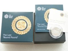 2016 Last Round Pound £1 One Pound Silver Proof Coin Box Coa