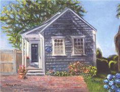 A romantic beach cottage on Nantucket.
