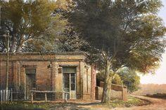 Jorge Frasca, Pintor realista contemporáneo Gaucho, Folklore, Nostalgia, Cabin, Watercolor, Deco, House Styles, Wallpaper, Painting