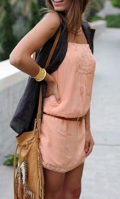 Belted summer dresses.