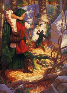 "Illustrations by Greg Hildebrandt in ""Robin Hood"""