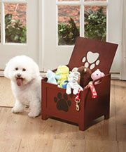 Wooden Pet Toy Boxes - now if we could just get Freckles to put her toys away at the end of the day.