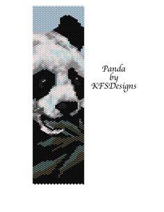 Peyote Stitch Bracelet Pattern - Panda (Buy 2 Patterns - get 3rd. FREE)