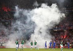 Flares delay Croatia vs. Ireland match