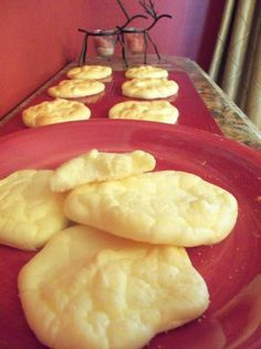 Carb Free Cloud Bread: Made with eggs, cottage cheese, sugar, and a dash of cream of tartar