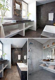 Inspiratiebeeld om te zien dat betonciré, Molitli betonstuc of tadelakt ook heel stijlvol en strak kan zijn