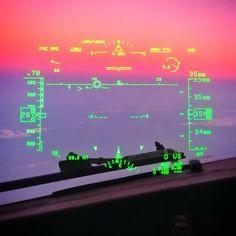 Qantas B737-838 sunset seen through HUD enroute from Perth to Sydney @cambuntu
