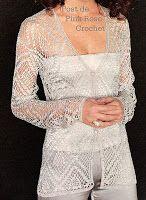 \ PINK ROSE CROCHET /: Blusa de Crochê  com Ponto Geométrico