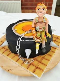 Overwatch- Junkrat SweetStories  #Overwatch #Junkrat #sweetstories #sugarart #sugarcraft #handmade #cakedesign #cakes #cake #birthdaycake #birthday #chocolatecake #specialcakes #specialcakesforkids #computergames Overwatch Cake, Sweet Stories, Sugar Craft, Chocolate Cake, Cake Ideas, Birthday Cake, Cakes, Desserts, Recipes
