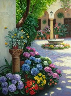 30 Stunning Spring Garden Ideas for Front Yard and Backyard Landscaping So, make sure that you choose the idea for a spring garden from the list that. Beautiful Gardens, Beautiful Flowers, Hanging Plants Outdoor, Outdoor Flowers, Design Cour, Garden Stairs, Front Yard Design, Garden Landscape Design, Front Yard Landscaping