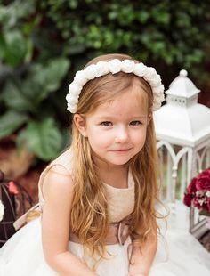 Nozze bambini fascia fiori bianchi graduazione ragazze archetto compleanno  Fiori cerchietto sposa capelli accessries hola Angelo 6d3f9406f576
