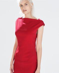 Image 2 of BOATNECK TUBE DRESS from Zara