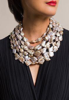 Monies UNIQUE 7 Strand Pearl Necklace