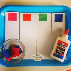 Toddler Color Sorting Craft - The Activity Mom