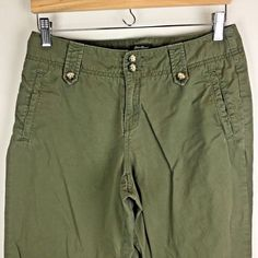 b558f2d1d2 (eBay link) Eddie Bauer Women s Capri Pants Size 6 Blakely Fit Olive Green  100% Cotton  fashion  clothing  shoes  accessories  womensclothing  pants